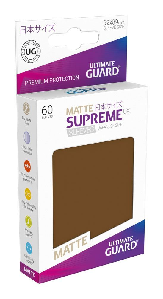 Ultimate Guard Supreme UX Sleeves Yu-Gi-Oh! Matte Brown (60) - 1
