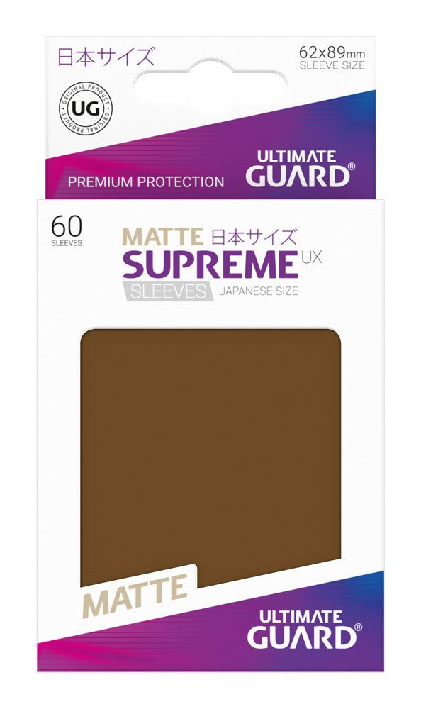 Ultimate Guard Supreme UX Sleeves Yu-Gi-Oh! Matte Brown (60) - 3