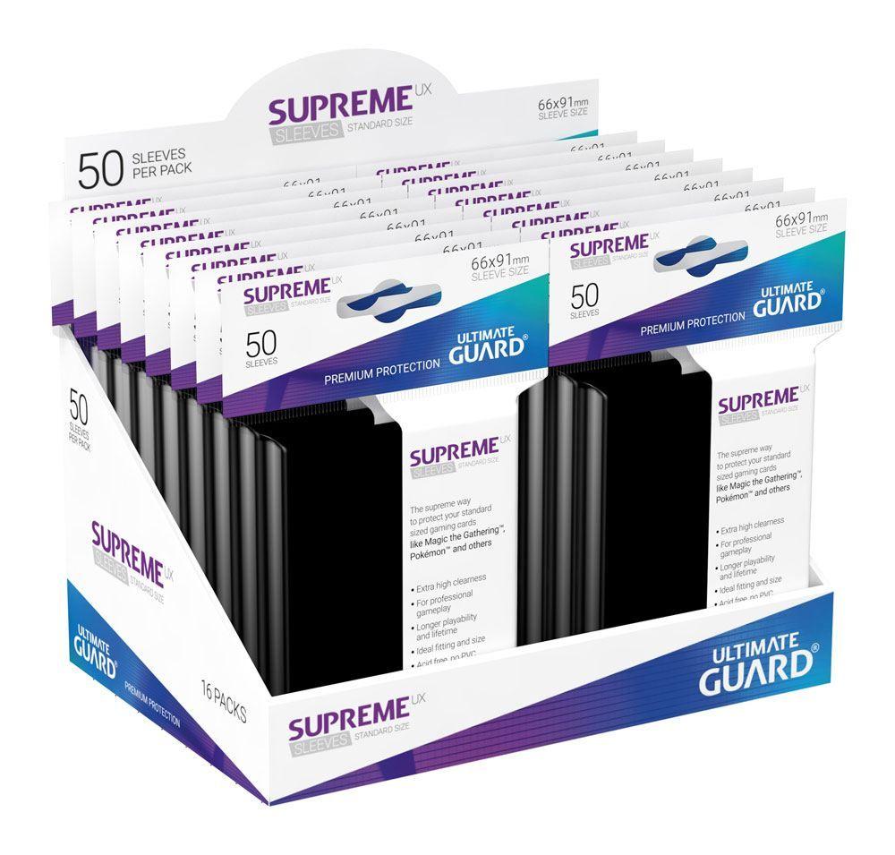 Протектори Ultimate Guard Supreme UX Sleeves - Standard Size - Черни (50 бр.) - 4