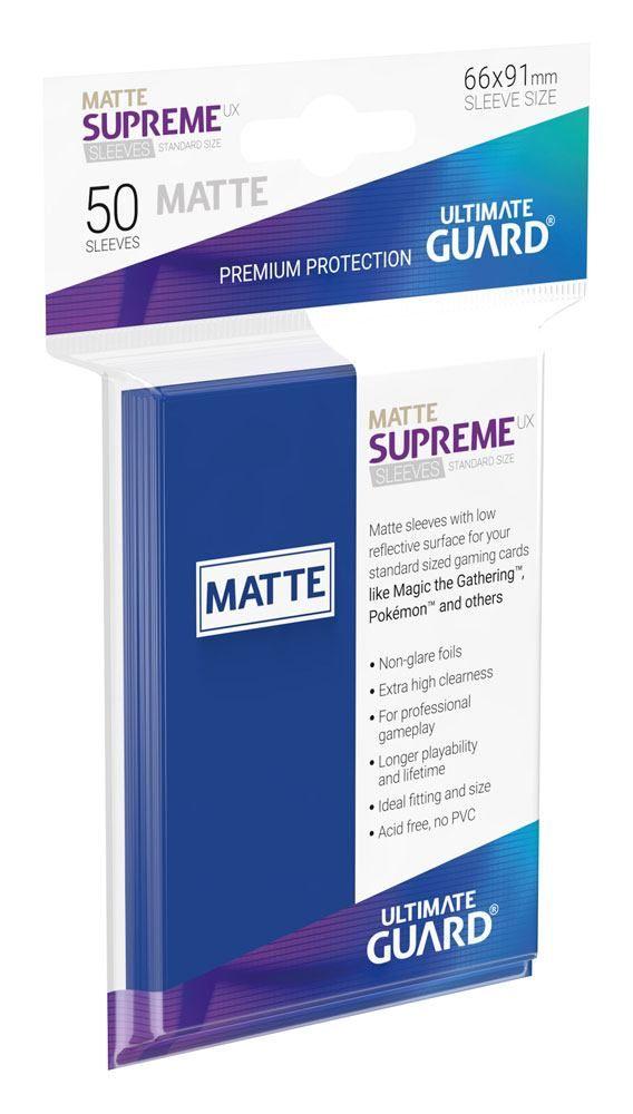 Протектори Ultimate Guard Supreme UX Sleeves Standard Size - Матово сини (50 бр.) - 1