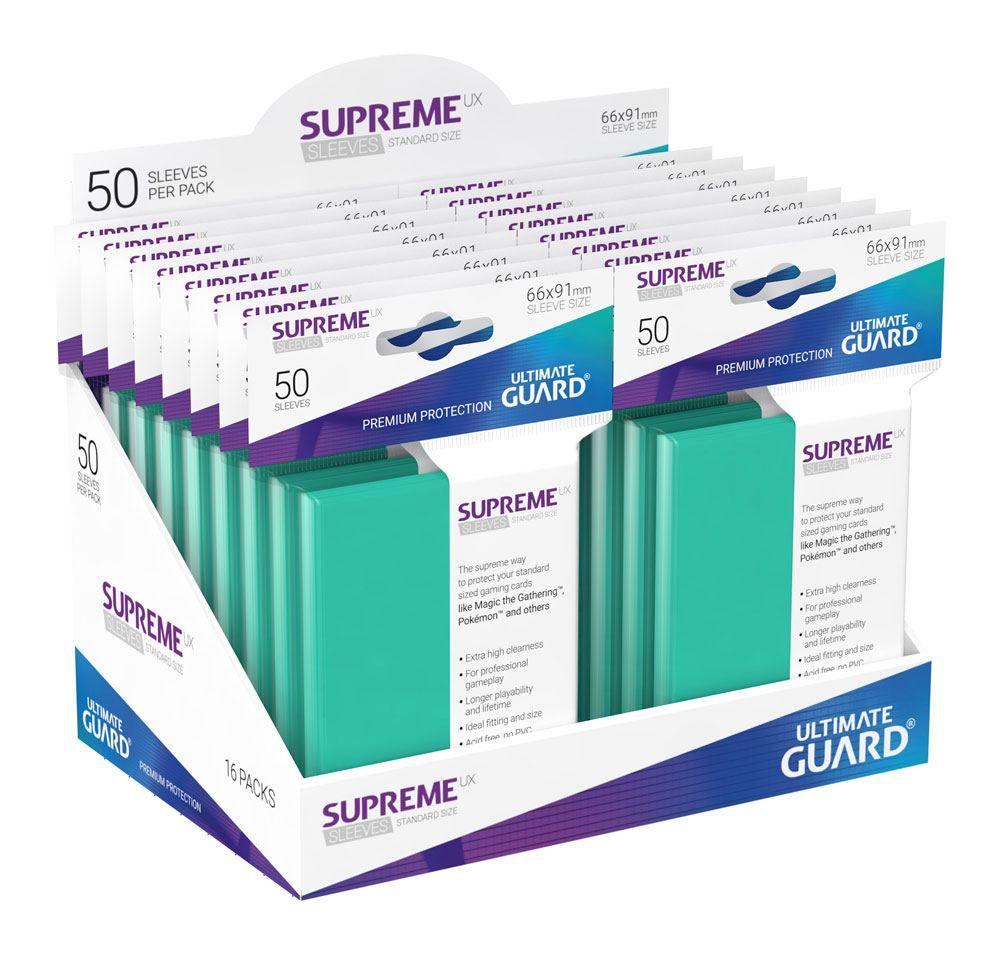 Протектори Ultimate Guard Supreme UX Sleeves - Standard Size - Тюркоазени (50 бр.) - 4
