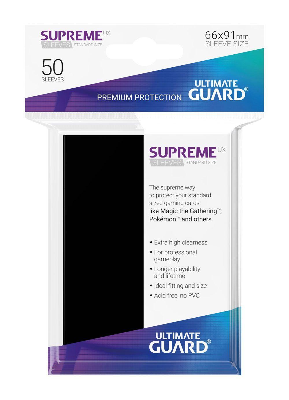 Протектори Ultimate Guard Supreme UX Sleeves - Standard Size - Черни (50 бр.) - 3