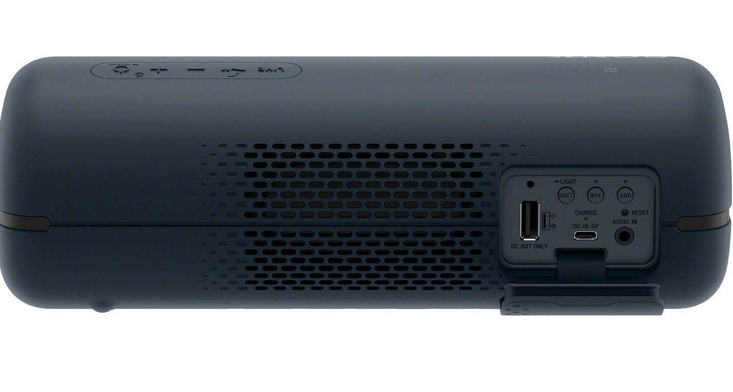Мини колонка Sony - SRS-XB32, черна - 4