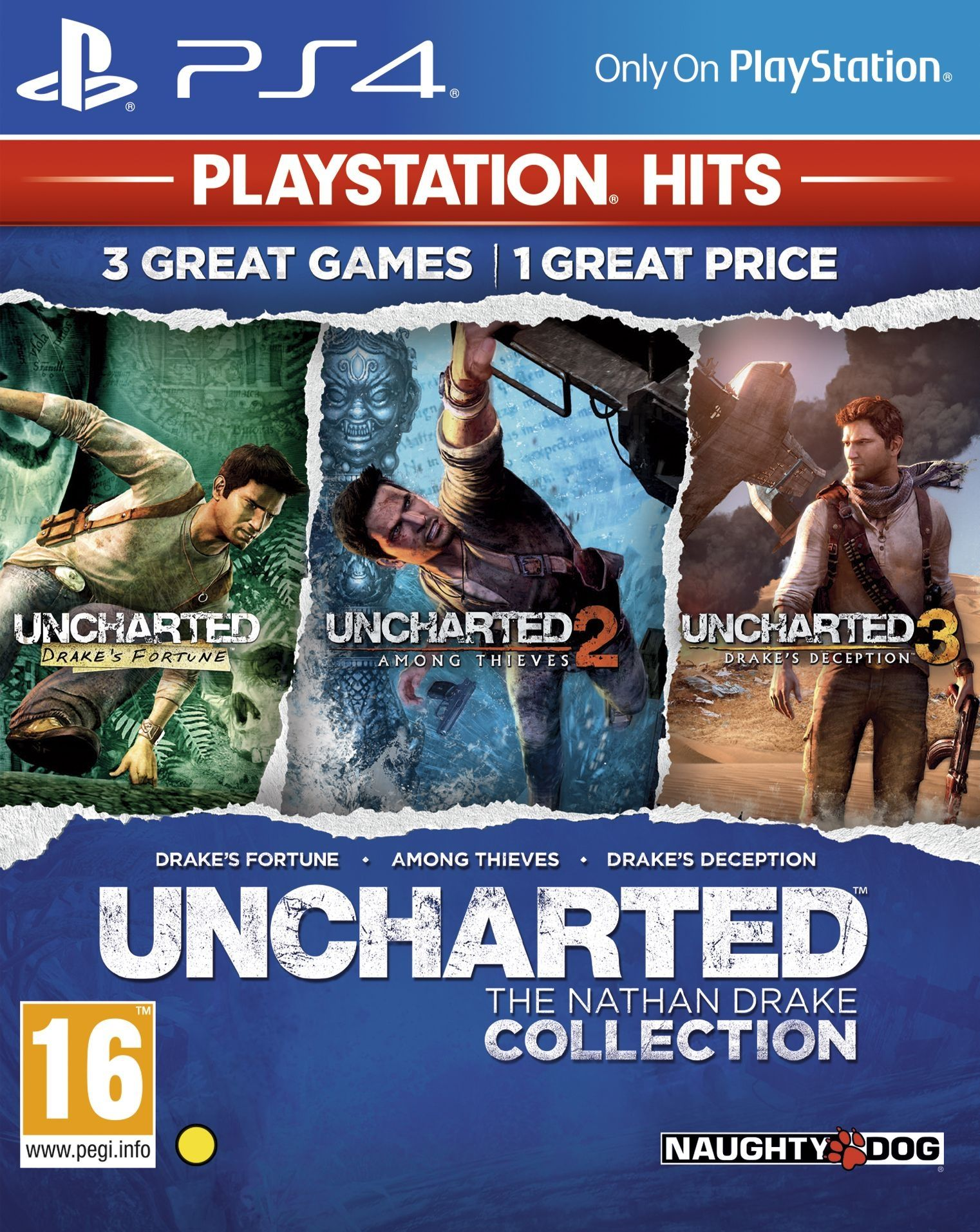 Uncharted: The Nathan Drake Collection - Пакет от 3 игри (PS4) - 1