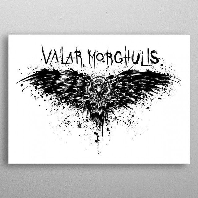 Метален постер Displate - Game of Thrones: Valar Morghulis - 3