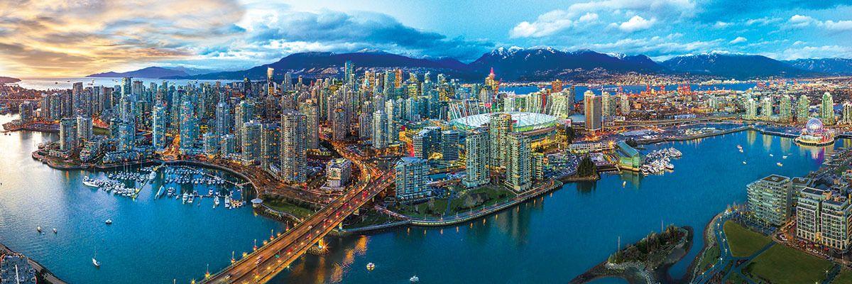 Панорамен пъзел Eurographics от 1000 части - Ванкувър - 2