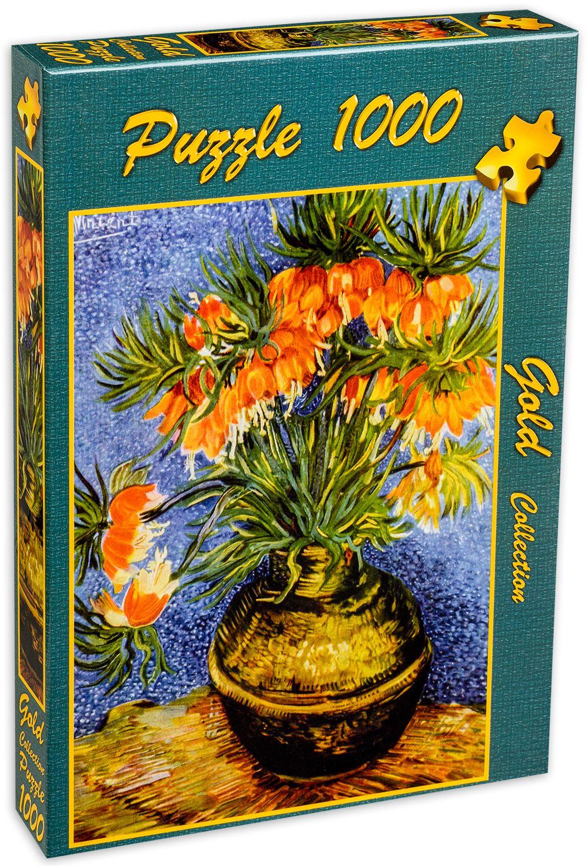 Пъзел Gold Puzzle от 1000 части - Ведрица в медена ваза - 2