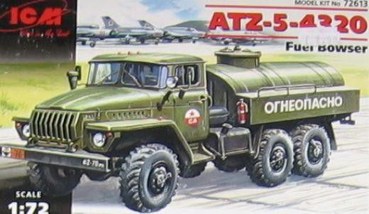 Военен сглобяем модел - Руски камион цистерна АТЗ-5-4320 /ATZ-5-4320/ - 1