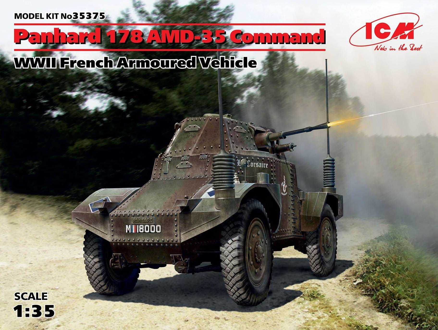 Военен сглобяем модел - Френска бронирана машина Панар 178 АМД-3 (Panhard 178 AMD-35 Command) от Втората световна война - 1