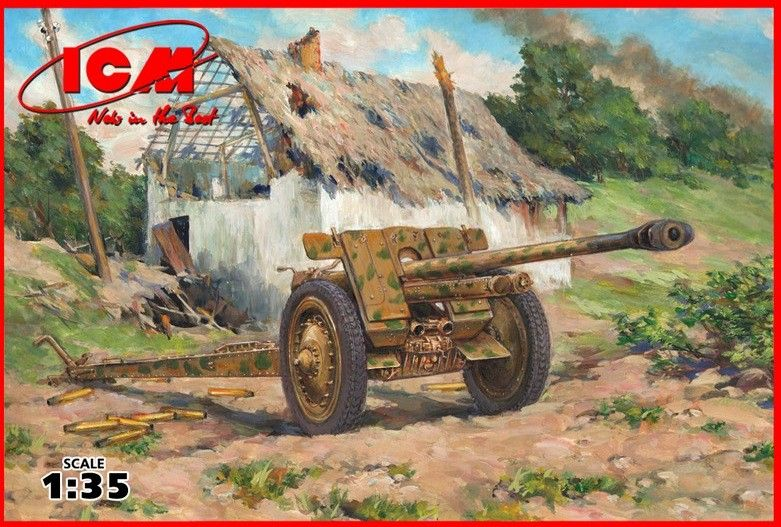 Военен сглобяем модел - Германско противотанково оръдие 7,62 мм Пак 36 (German Anti-Tank Gun 7,62 cm Pak 36(r), WWII) - 1