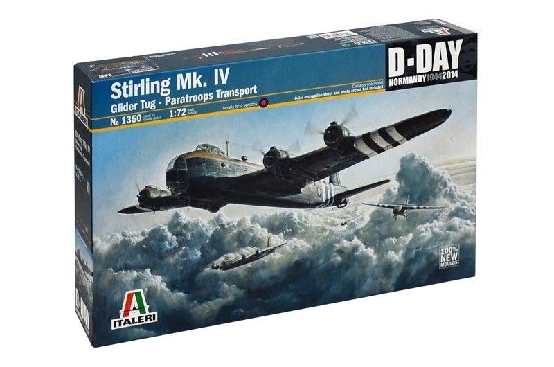 "Военен сглобяем модел - Британски бомбардировач Шорт Стърлинг Мк.IV, Normanciq ""44(Short Stirling Mk.IV, D-Day Normandy ""44) - 1"