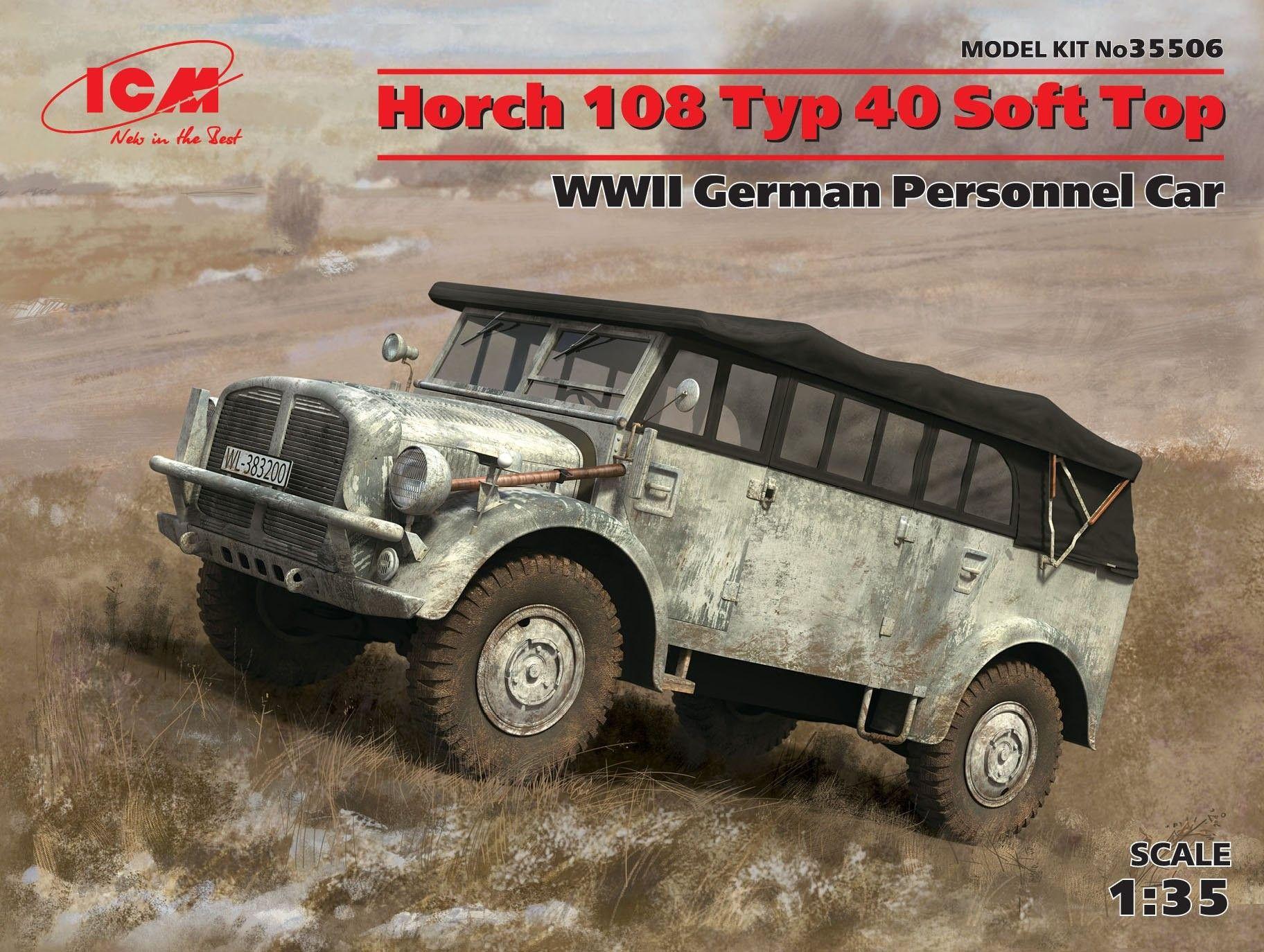 Военен сглобяем модел - Германски автомобил Хорх 108 Тип 40 (Horch 108 Typ 40) от Втората световна война - 1