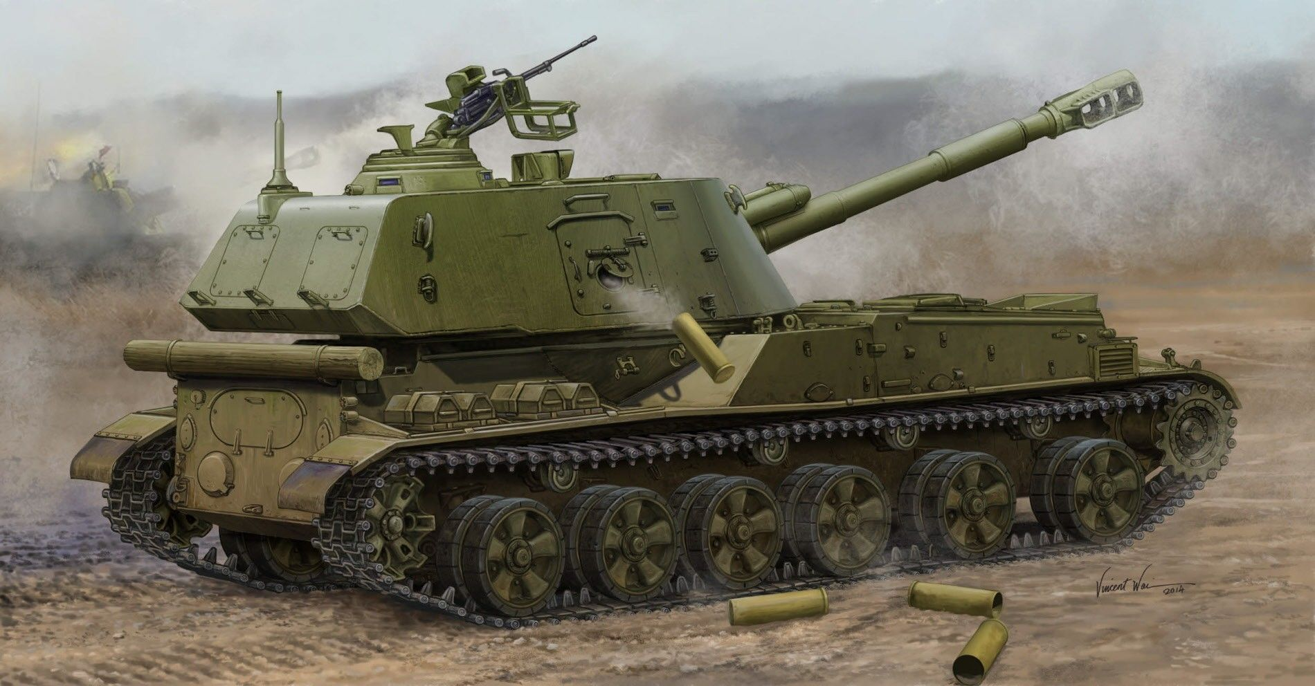 """Военен сглобяем модел - Съветска гаубица 2С23 """"НОНА-СВК"""" 152 mm - късен модел (Soviet 2S3 152mm Self-Propeller Howitzer - Late) - 1"""