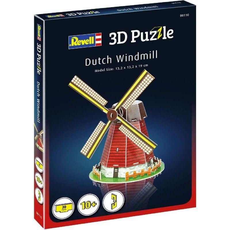Мини 3D пъзел Revell - Вятърна мелница - 2