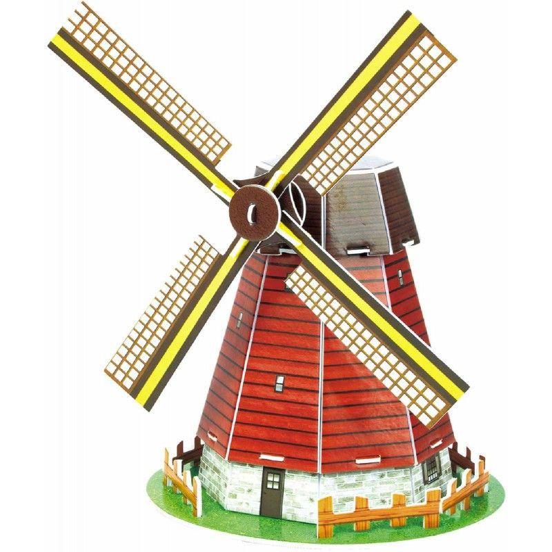 Мини 3D пъзел Revell - Вятърна мелница - 1