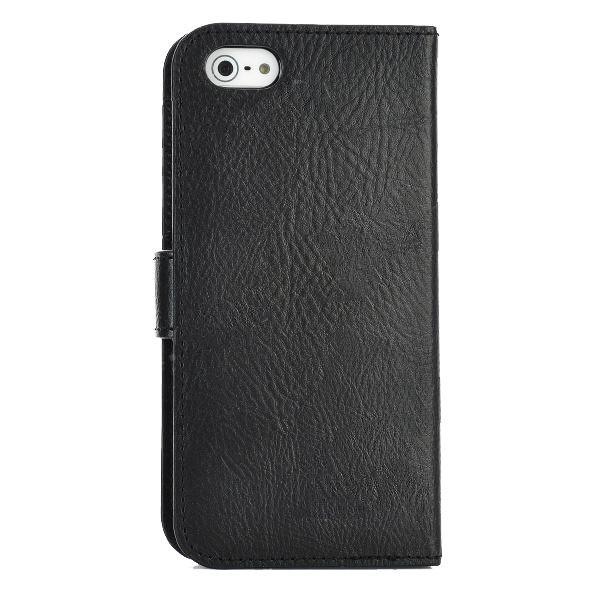 Wallet Flip Case за iPhone 5 -  черен - 2