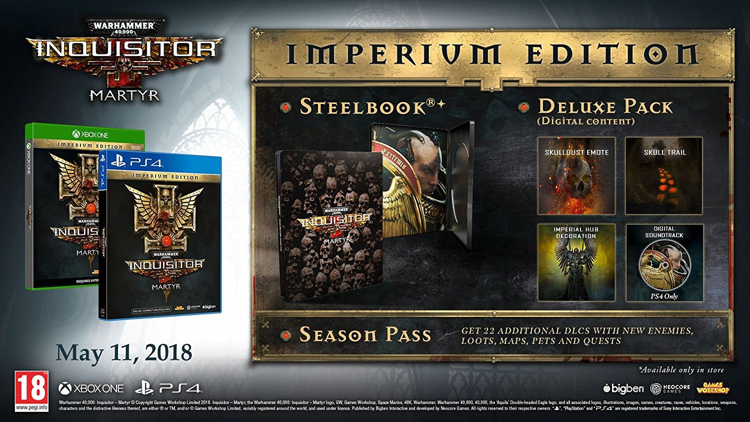 Warhammer 40,000 Inquisitor Martyr Imperium Edition (PS4) - 3