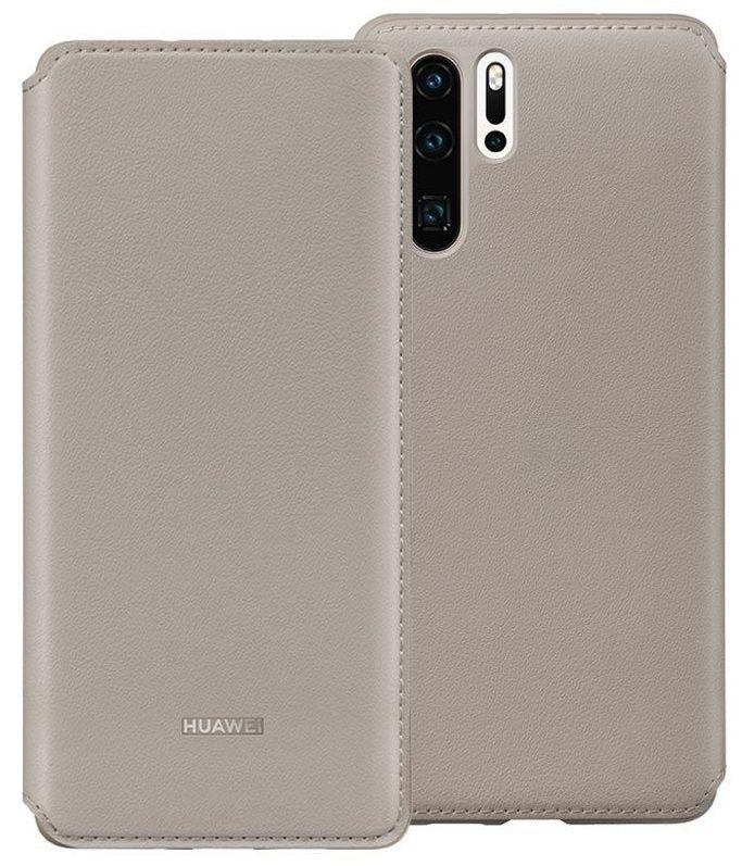Калъф Huawei - Vogue P30 Pro, Wallet Cover, khaki - 4