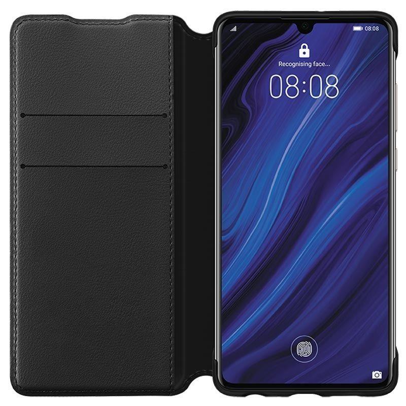 Калъф Huawei Elle P30 - Wallet Cover, черен - 2