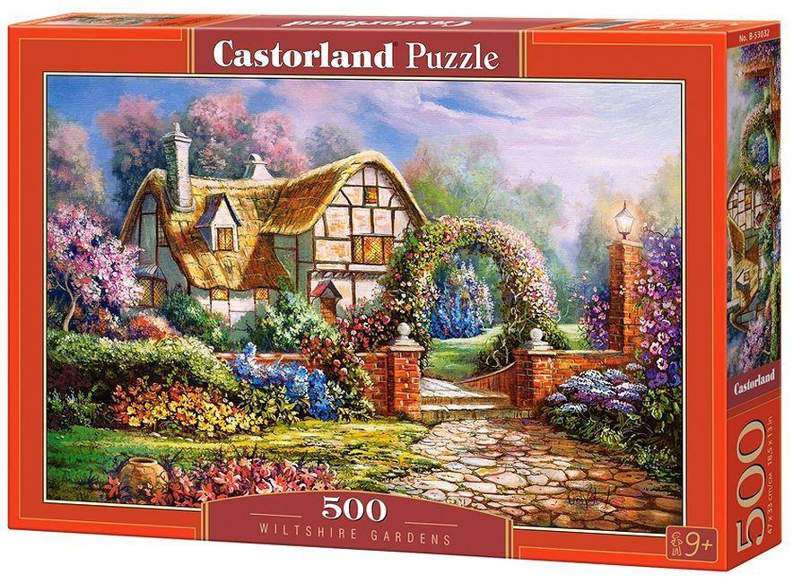 Пъзел Castorland от 500 части - Уилтшърските градини, Карл Валенте - 2