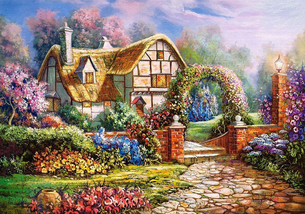 Пъзел Castorland от 500 части - Уилтшърските градини, Карл Валенте - 1