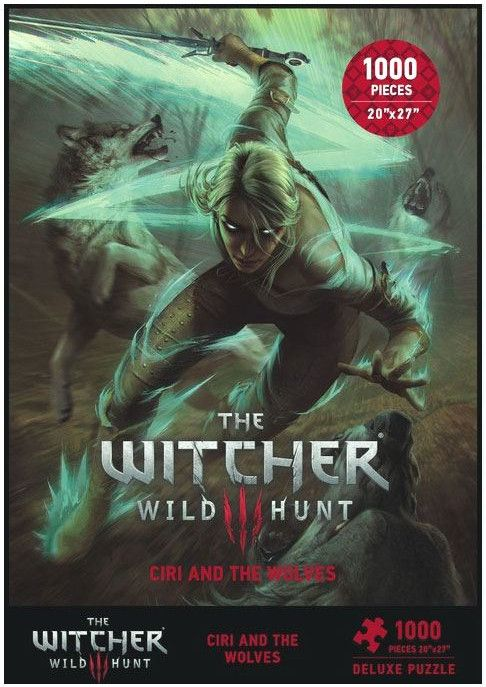 Пъзел Dark Horse от 1000 части - Witcher 3 Wild Hunt Ciri and the Wolves - 1