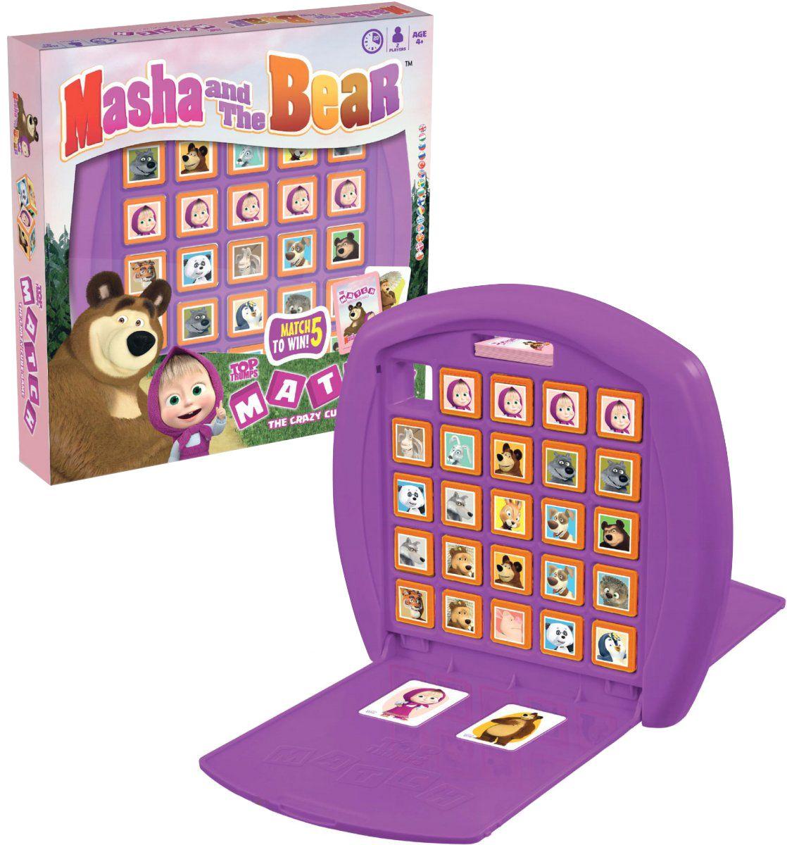 Игра с карти и кубчета Top Trumps Match - Маша и Мечокът - 1