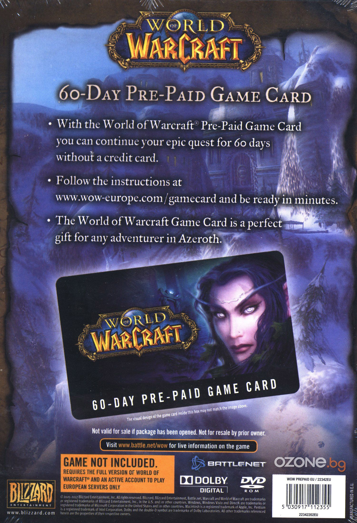 World of Warcraft 60 Day Pre-Paid Game Time Card (PC) - 2