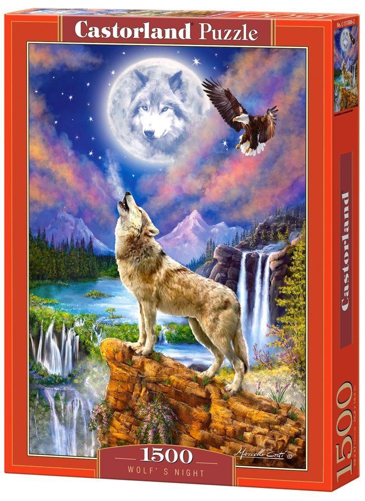 Пъзел Castorland от 1500 части - Нощта на вълка, Марчело Корти - 1