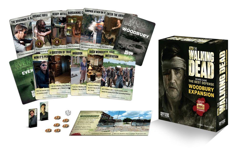 Разширение за настолна игра  The Walking Dead Board Game - The Best Defense - Woodbury Expansion - 2