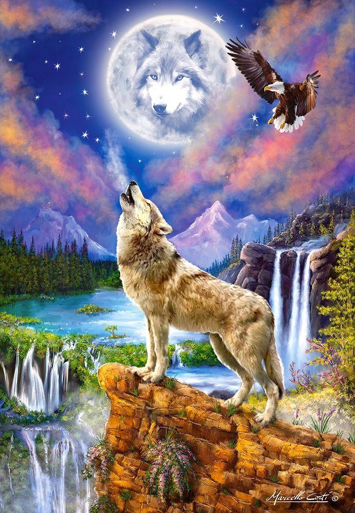 Пъзел Castorland от 1500 части - Нощта на вълка, Марчело Корти - 2