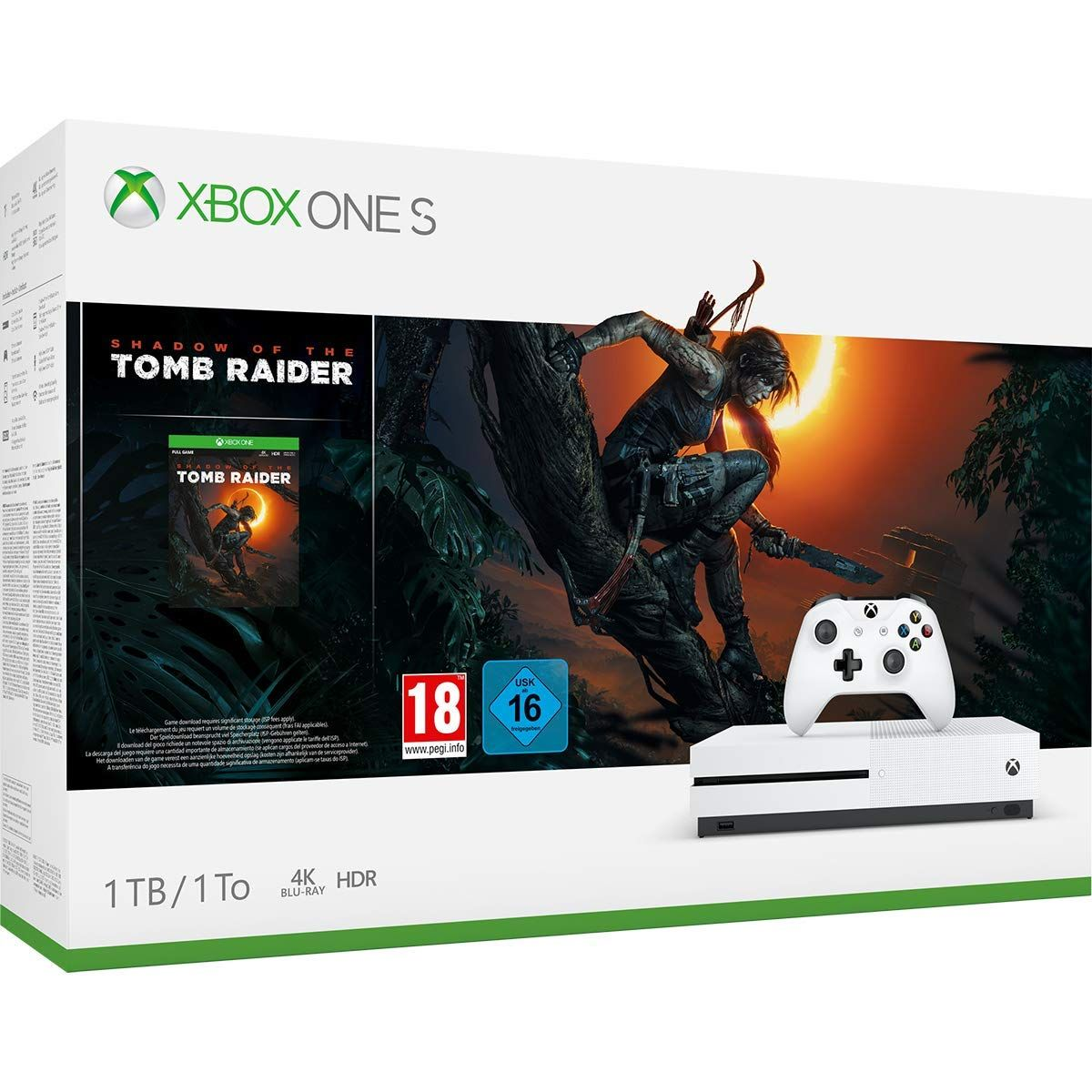 Xbox One S 1TB + Shadow of the Tomb Raider - 1