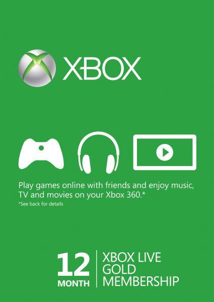 Xbox Live Gold Card (12 месеца) - 1