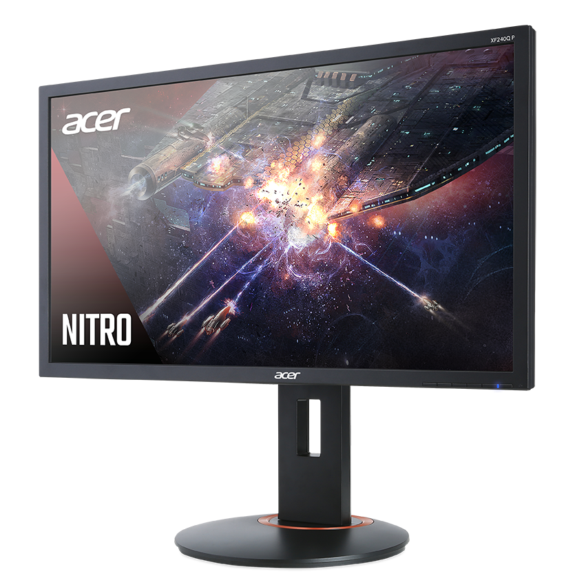 "Геймърски монитор Acer - XF240QP, 23.6"", FHD, 144Hz, FreeSync, 1ms, черен - 3"