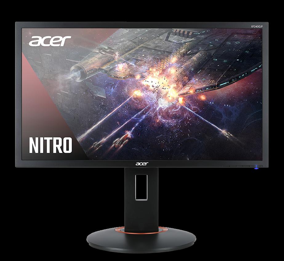 "Геймърски монитор Acer - XF240QP, 23.6"", FHD, 144Hz, FreeSync, 1ms, черен - 2"