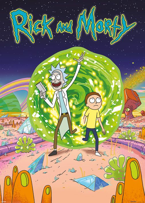 XL плакат Pyramid - Rick and Morty (Portal) - 1