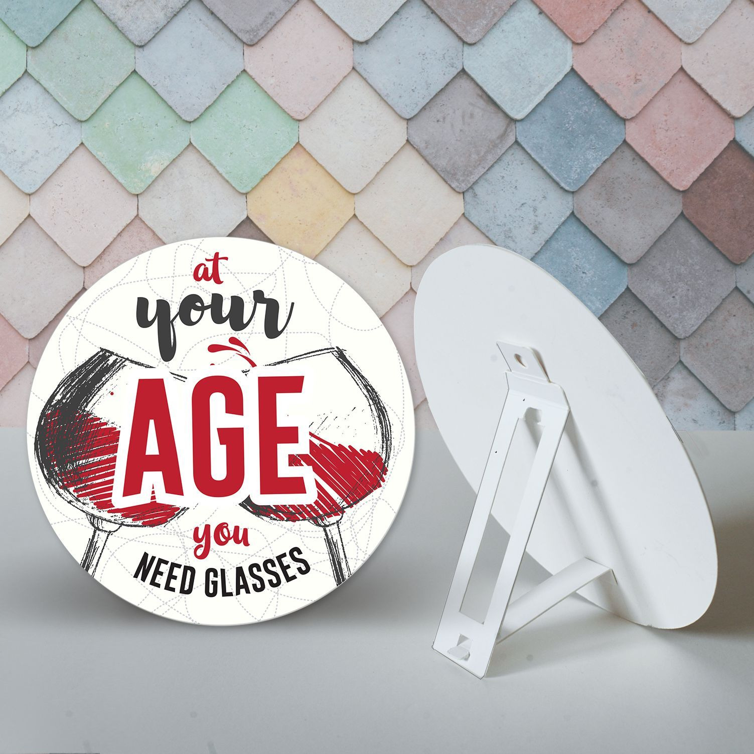 Табелка-картичка - At your age you need glasses - 2