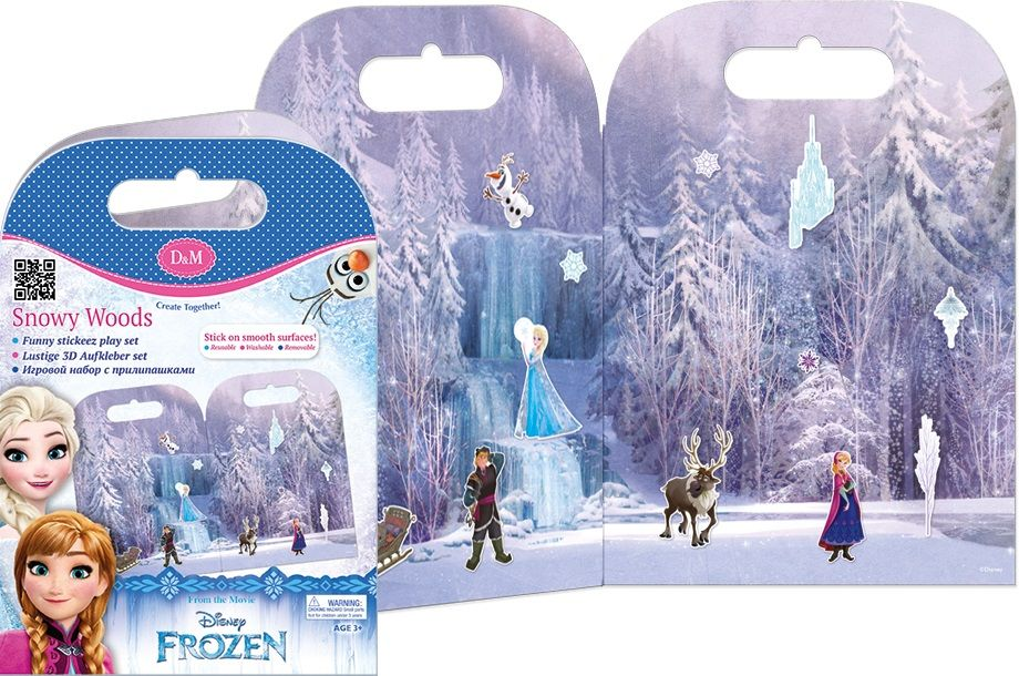 Активна игра със стикери Revontuli Toys Oy - Замръзналото кралство, Снежни гори - 1