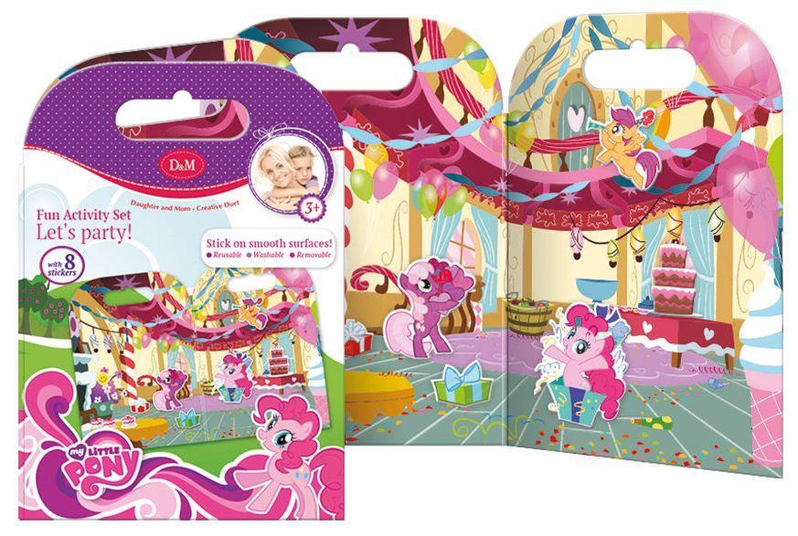 Активна игра със стикери Revontuli Toys Oy - Моето малко пони, Партито на Пинки Пай - 1