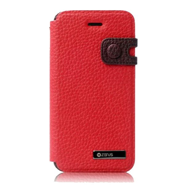 Zenus Masstige Color Edge Diary за iPhone 5 -  червен - 1