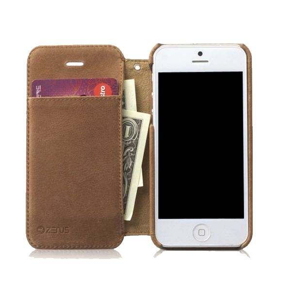 Zenus Prestige Vintage Leather Diary за iPhone 5 - 5