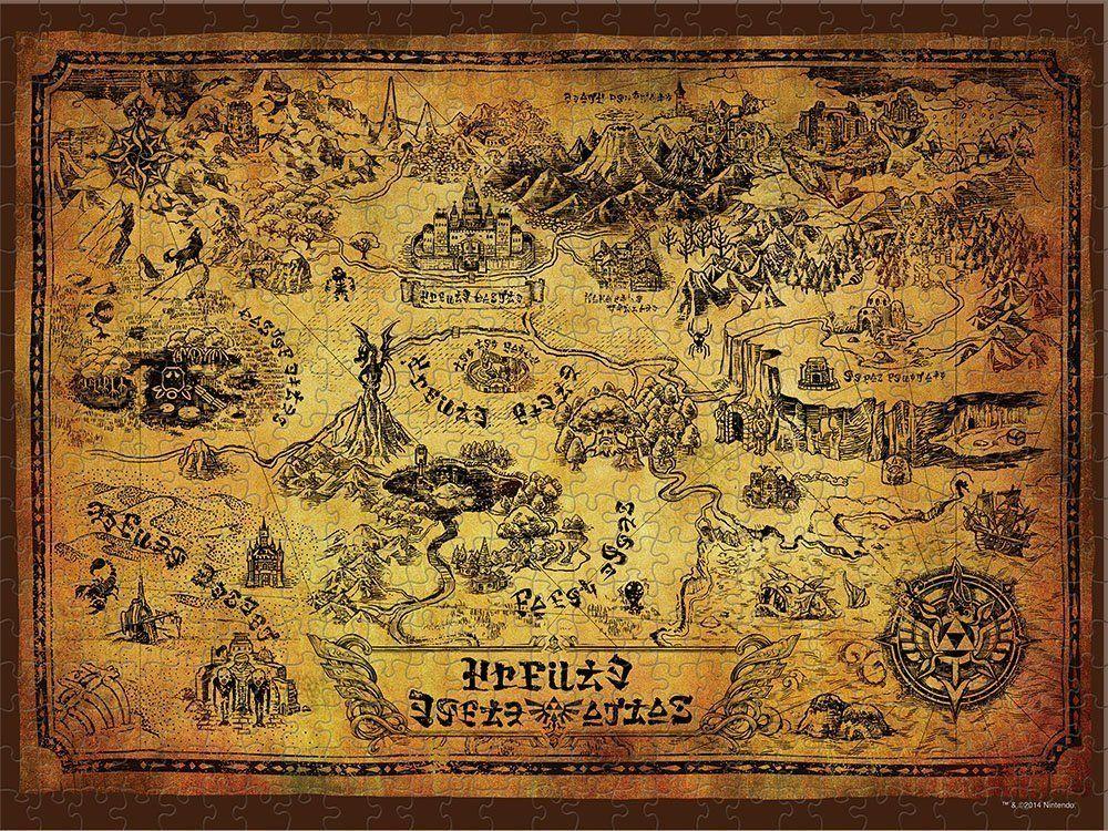 Пъзел Vistoenpantalla от 550 части – Карта на Хайрул - 3