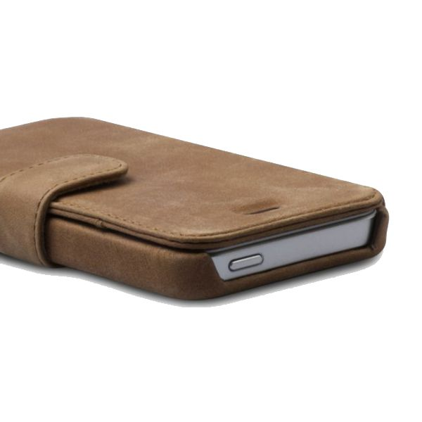 Zenus Prestige Vintage Leather Diary за iPhone 5 - 4