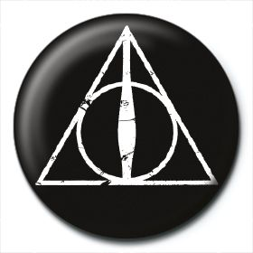Значка Pyramid -  Harry Potter (Deathly Hallows Logo) - 1