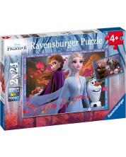 Пъзел Ravensburger от 2 x 24 части - Приключения в Замръзналото кралство 2 -1