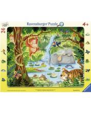 Пъзел Ravensburger от 24 части - Приятели в джунглата -1