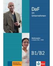 DaF im Unternehmen B1/B2 Medienpaket (4 Audio-CDs + DVD) -1