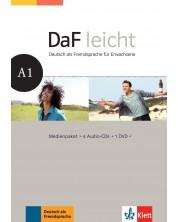 DaF Leicht A1 Medienpaket (4 Audio-CDs + 1 DVD) -1