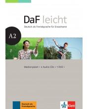 DaF Leicht A2 Medienpaket (4 Audio-CDs + 1 DVD) -1