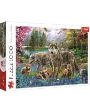 Пъзел Trefl от 1000 части - Семейство вълци, Ян Патрик Красни
